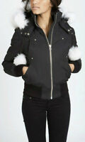 Moose Knuckles Debbie Bomber (Black, Medium), BRAND NEW