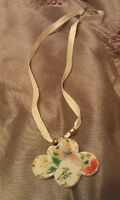 Cloud Neclace with Butterfly and Flowers