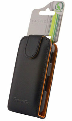 GreenGo Handytasche Handyhülle Etui FlipCase Cover Samsung S6500 Mini 2 Black Gsm Flip Handy