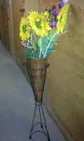 Flower Basket and Artificial Flowers