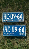 Vintage License Plates Register To Yr Old Vehicle Prs Various 64