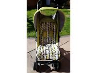 Mothercare mino plus wave green lie flat stroller folding compact pushchair