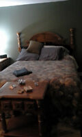 Queen size bedroom set for sale  ( moving   lots   to  sell  )
