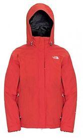 North face hyvent medium ladies coat with built in fleece