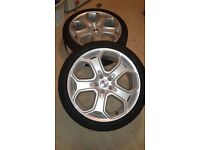 2 GENUINE FORD WHEELS & TYRES