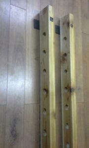 10 or 12 bottle handmade wallmounted wine rack Kitchener / Waterloo Kitchener Area image 5