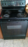 URGENT SALE! Amana Electric Stove + KitchenAid Supra Fridge
