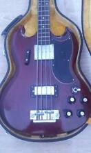 1973 GRECO (IBANEZ - VINTAGE) SG BASS CHERRY RED Newcastle 2300 Newcastle Area Preview