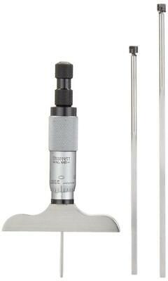 Starrett 449az-3r Depth Micrometer With Non-rotating Blade 0-3 Range .001
