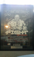 Fight Network Autographed Poster! RARE/One-of-a-Kind w/COA