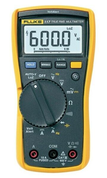 Fluke 117 Multimeter with non-contact voltage for electricians