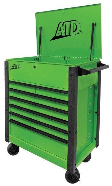 ATD Tools 70400A 7-Drawer Flip-Top Tool Cart, Green