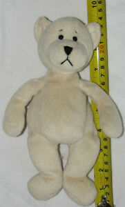 Plush White Sad Teddy Bear