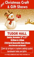 TUDOR HALL CHRISTMAS CRAFT & GIFT SHOW EXTRAVAGANZA NOV 22, 2015