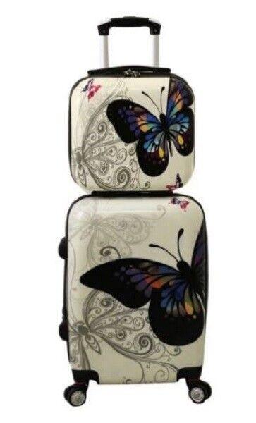 World Traveler Butterfly 2-piece Hardside Carry-on Spinner L