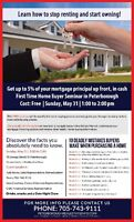 First Time Home Buyer Seminar In Peterborough May 31