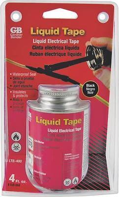 New Gb Ltb-400 Black 4oz Liquid Brush On Electrical Tape Waterproof Sale 9636226