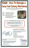 Trap Neuter Return Workshop: How to Manage a Feral Colony