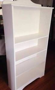 Lovely WHITE Timber Book Display Shelves Burwood East Whitehorse Area Preview