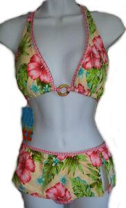 Tropical Skirted 2 Piece Bikini - Juniors Size XL 15