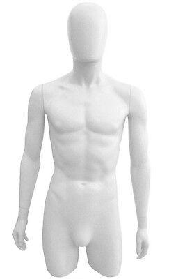 Mn-249 White Plastic 34torso Male Upper Body Torso Form With Removable Head