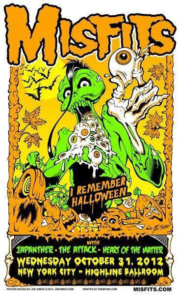 Misfits Poster - Screen Print  by Joe Simko - Halloween 2012