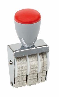 Idena Datumstempel Stempel 5x30 mm Monate  in Buchstaben  (Buchstaben X Stempel)
