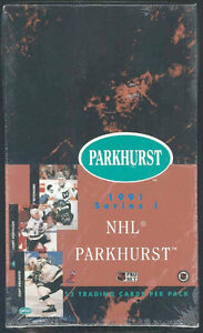 1991-92 PARKHURST .. hockey cards .. SERIES 1 box - LIDSTROM RC?