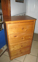 Small Solid Wood 4-drawer Chest,great for small spaces,rare size