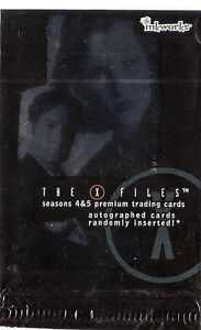2001 Inkworks X-Files Seasons 4-5 Set (90 cards) & Case
