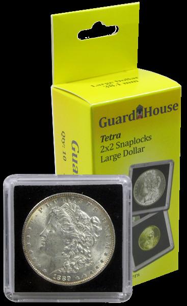 10 Guardhouse Tetra 2x2 Coin Holder Snap Capsule 38mm Morgan Silver Dollar Case