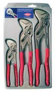 Knipex 3 Piece Pliers Wrench Set, 00 20 06 US2