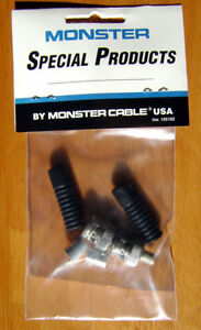 6 X Monster Cable BNC Crimp connectors (pair)