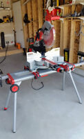Milwaukee 12 In. Dual Bevel Sliding Mitre Saw - with stand