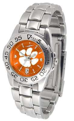 Clemson Tigers-Ladies Sport Steel AnoChrome Watch