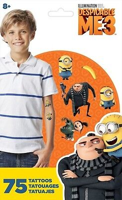 Despicable Me Party Supplies ( 75 Despicable Me 3 Tattoos Party Favors Teacher Supply)