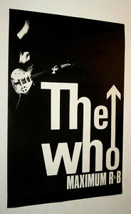 THE WHO MAXIMUM R & B POSTER FROM 80'S, VINTAGE, MOD, SKA