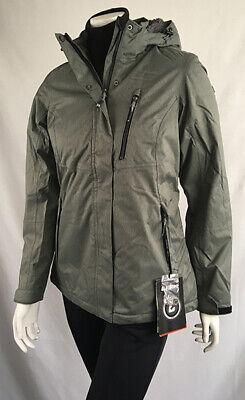 Damen Winterfunktionsjacke Killtec  NIRA graugrün meliert Gr. 38