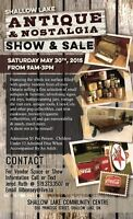 Shallow Lake Antique & Nostalgia Show & Sale