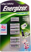 Energizer AAA Rechargeable Batteries 8