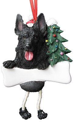 GERMAN SHEPHERD BLACK ~ DANGLING DOG ORNAMENT #75B
