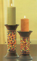 "PartyLite Global Fusion 9"" column candle holder"
