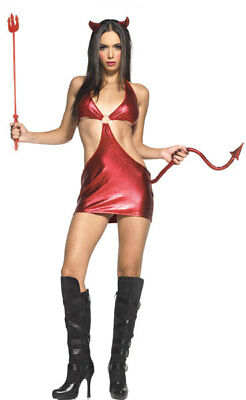 Womens Halloween Costumes Devil (Sexy Wicked Red Devil Vixen Halloween Costume Womens Adult Party Size S/M)