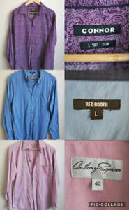 Men's Long Sleeve Shirts Size L $2ea