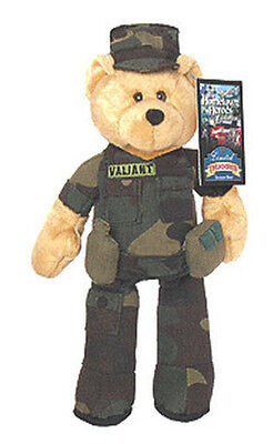 """Limited Treasures 9"""" Army Plush Collectible Stuffed Bear -'Valiant'"""