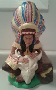 Vintage Native American Indian Chief Statue