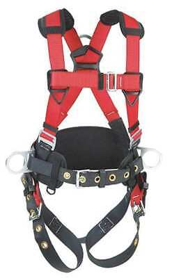 PROTECTA 1191208 Full Body Harness, S, 420 lb., Red/Gray