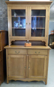 Antique Solid Maple Hutch - Blue Jar Antique Mall