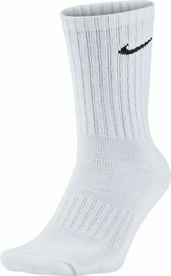 Nike Herren Sportsocken Value Crew 3er Pack Tennissocken Weiß Neu (Nike Crew Socken Weiß)
