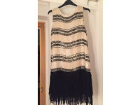 Womens H&M Sequin dress with tassels size 12